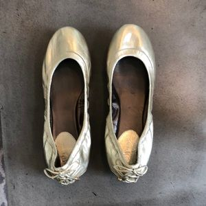 Brushed gold Cole Hann Nike air flats